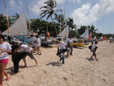 Special Action on the Coastal Cleanup Day in Maceió Brazil