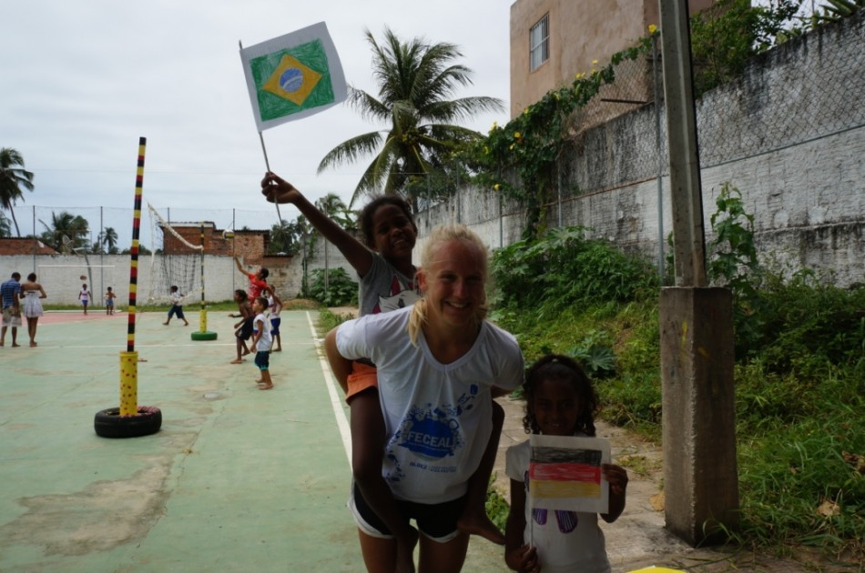Volunteer in Brazil sport